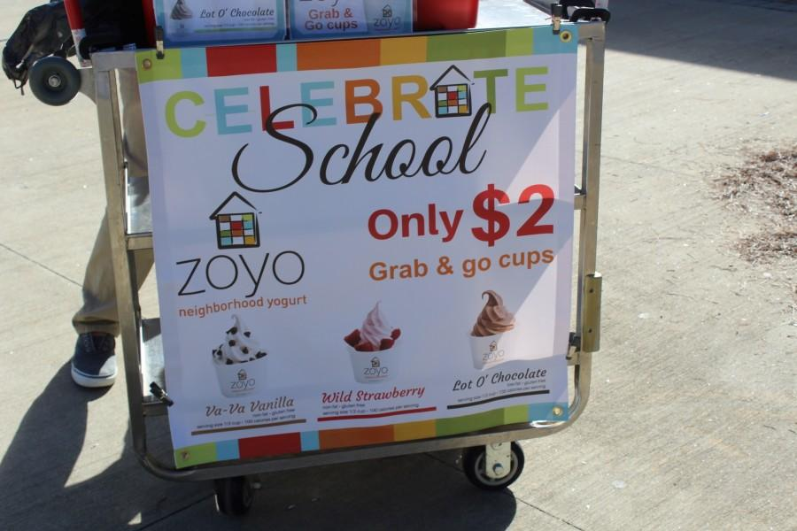 Today during lunch, culinary students stood in the courtyard selling $2 grab and go Zoyo cups.