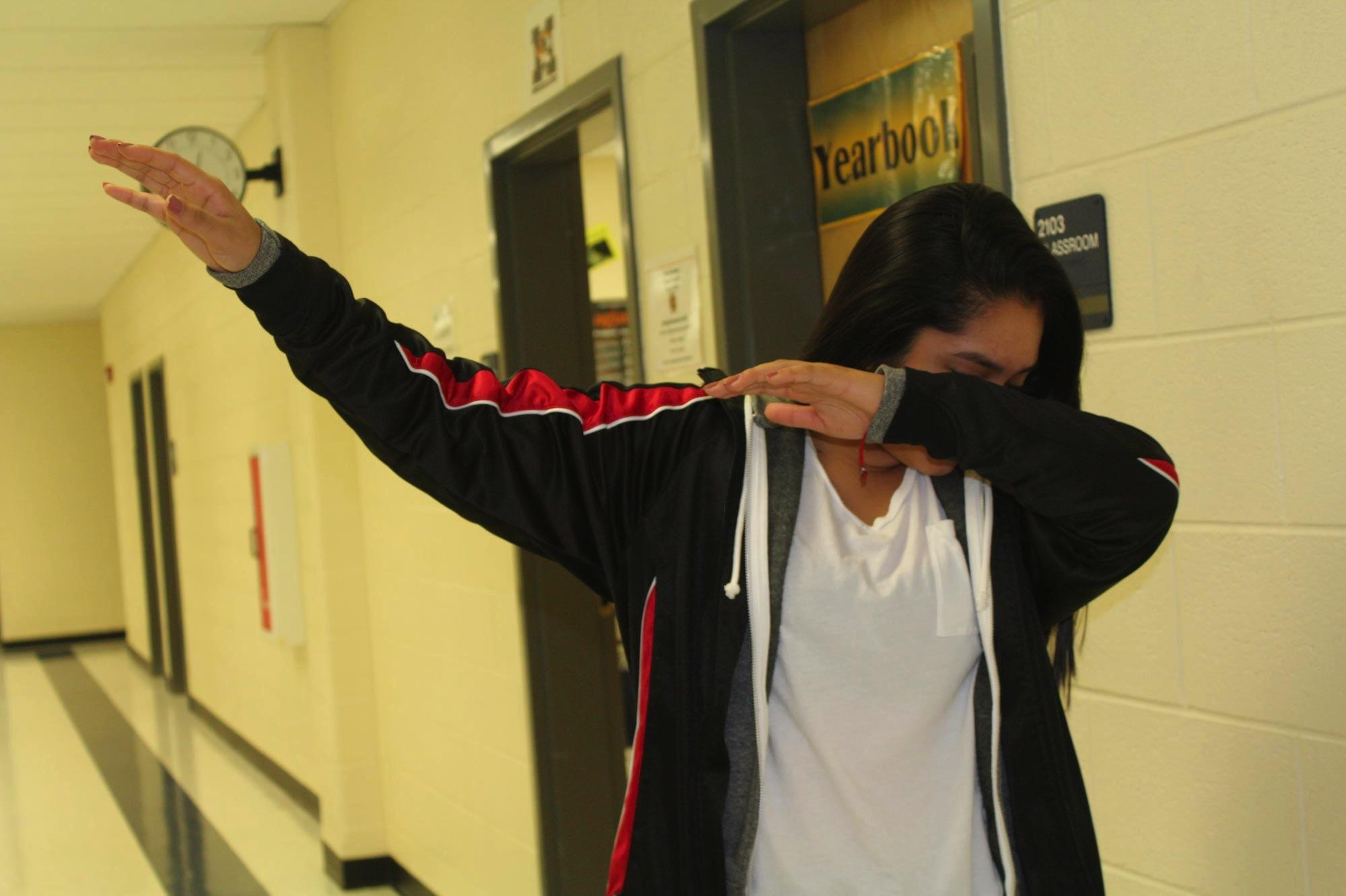 "Ultimately, one can ""dab"" to any song or no song. Sophomore Stephanie Garcia explains "" 'I Want' by Madeintyo is probably best song to dab to."""