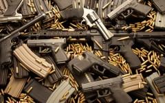 guns, pistols, rifle, revolvers, and ammunition