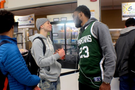 Students honored their favorite athletes on Tuesday with jersey day. Senior Kenny Ume paid homage to the Michigan State Spartans by sporting a Spartan jersey.