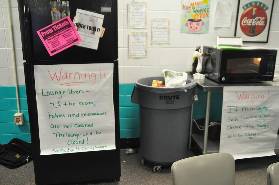 NC administration warns students in the magnet program they will lose their lounge privileges if students continue to leave messes in the area.