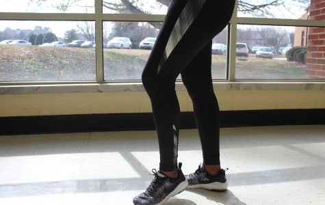 Leggings cover all areas of the leg and buttocks, and yet they still are banned. And yet people break this rule all the time.