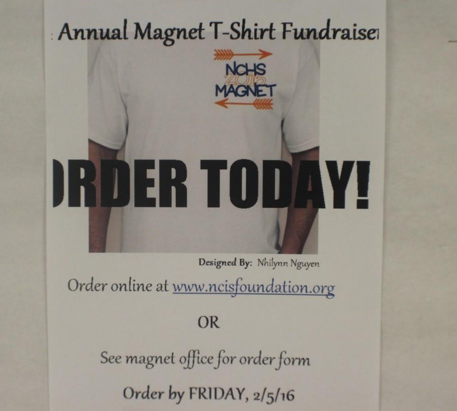 The NC Magnet program began selling its first ever magnet t-shirt Monday, after Magnet junior Nhilynn Nguyen's design won on Friday. The shirts cost just ten dollars through www.ncisfoundation.org and help support the magnet program and its goals for the future of Cobb County's only International Studies program.