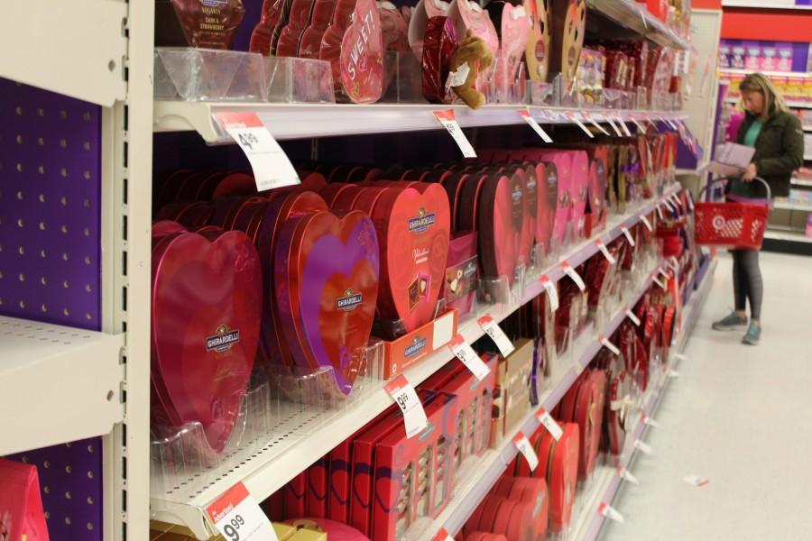 Supermarkets offer Valentine's Day gifts that allow one to purchase for their significant other.
