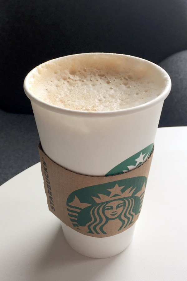 Starbucks butterscotch latte provides a strong drink for coffee lovers.