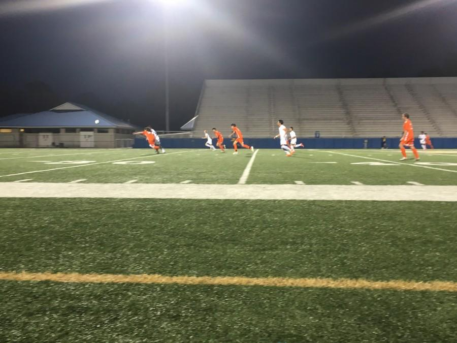 The NC Warriors played against the McEachern Indians Friday night, although they started strong by scoring a goal in the first 13 seconds, the Warriors let a potential win slip from their fingers.