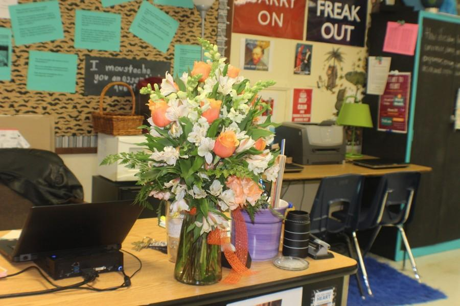 NC honored Kovel with orange and white flowers.