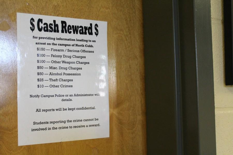 NC offers students a cash award for turning in peers that may lead to an arrest on campus. This allows NC to remove students they deem as harmful as well as reduce the number of students committing crimes. Students that may be involved in the crime are not eligible for the reward.