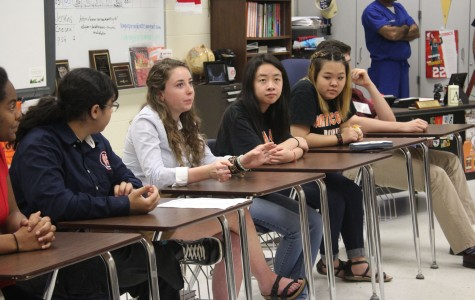 """Leighann Raksasouk, junior in the NC magnet program, spoke on a student panel featuring other students from various grades in the program. Feeling the night proceeded successfully overall, """"we showcased well that we have a lot of diversity and the different routes you could choose."""" Raksasouk said."""