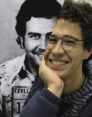 Senior David Escobar was arrested during AP Calculus under allegations that he is actually the Colombian druglord, Pablo Escobar. The resemblance is uncanny.
