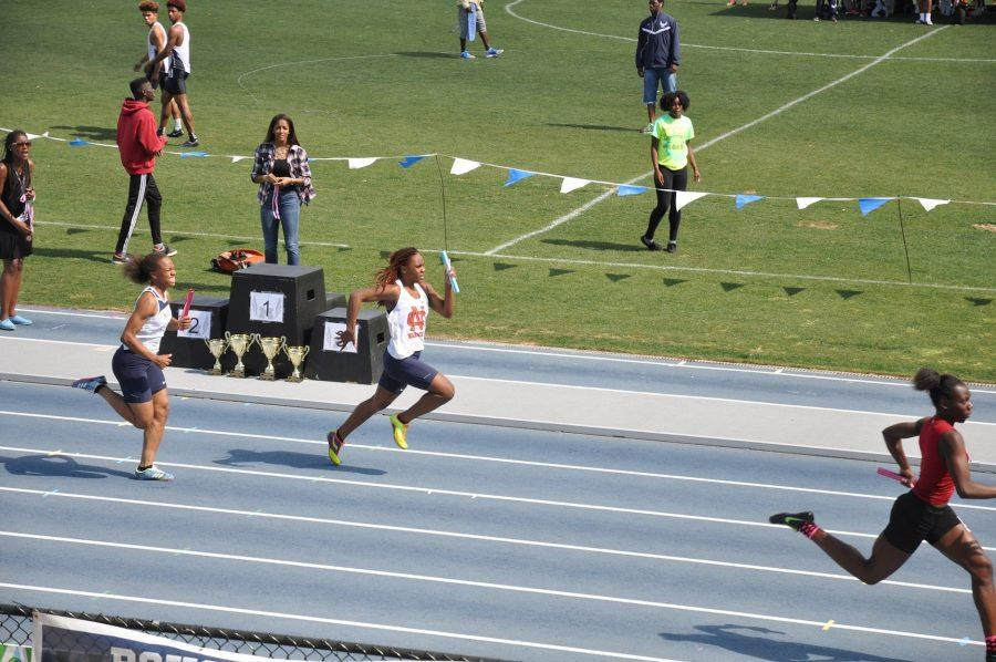 Junior Aliyah Mickens earned several points on Wednesday and Friday, advancing beyond regions in two events. Mickens placed fourth in the 200-meter dash (25.33 seconds) and ran a leg of the girls 4x100-meter relay to help the team secure third place (48.38 seconds).
