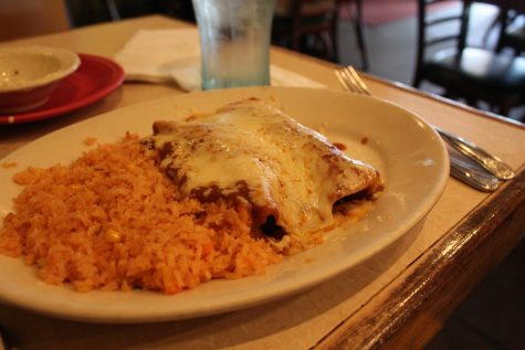 Shambaugh ordered the Special Lunch #2 which came with a serving of rice and an enchilada.