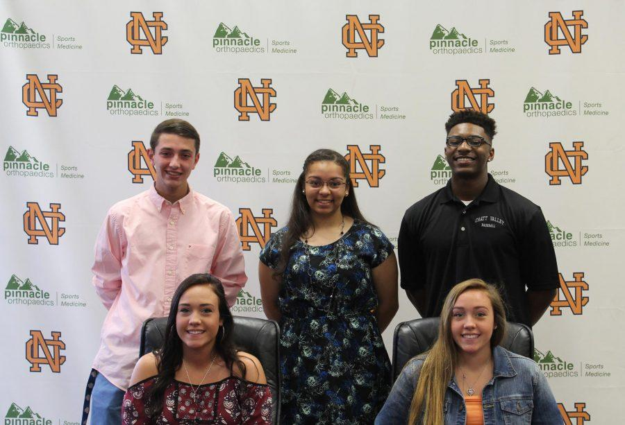 Seniors Jake Tuckman, Tre Kirkland, Jordan Chandler, Taylor and Mackenzie Krause all committed to colleges.