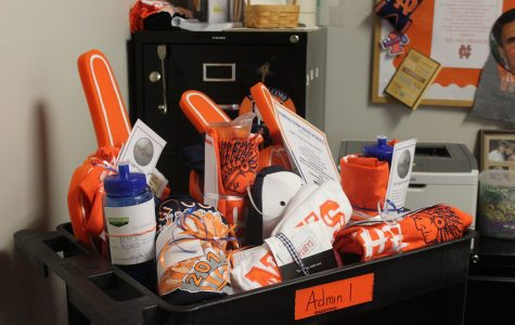 """In spirit of Teacher Appreciation Week, Admin administers raffle prizes to several lucky NC teachers. Nothing screams """"We appreciate you"""" more than NC swag and a fully paid dinner for two."""