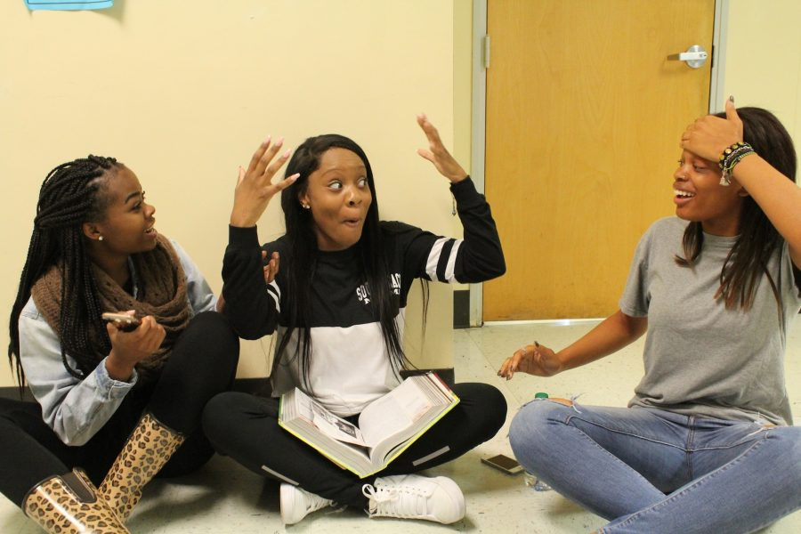 The cycle continues as three junior classmates overhear the rumor from another student walking by. Each girl reacts to the rumor differently, but the end result remains the same.