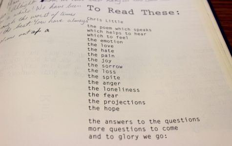 The 1996 NC yearbook showcases student talent with a literary magazine section, featuring a poem written by Chris Little.