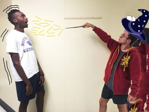 Seniors Brandon Isnetto and Kevin Waweru exemplify the hidden witchcraft that goes on in our school. Don't mess with Harry Potter.