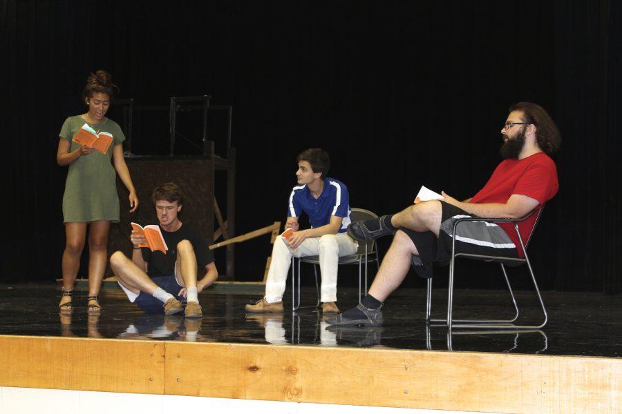 Freshman+Maddie+Hewitt+%28Goldie+Short%29%2C+junior+Jordan+Hicks+%28Buddy+Layman%29%2C+senior+Emmett+Schindler+%28C.C.+Showers%29%2C+and+senior+Alex+Klinkert+%28Ferris+Layman%29+rehearse+The+Diviners+by+Jim+Leonard%2C+Jr.+in+NC%27s+main+theater.