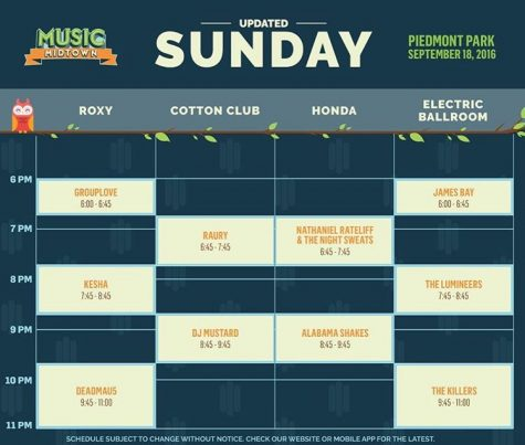 The new schedule for Music Midtown caused many artists to overlap.