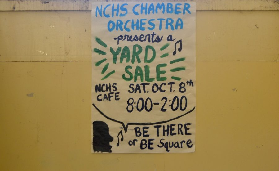 The+NC+Chamber+Orchestra+will+hold+a+yard+sale+on+October+8+from+8+a.m.+to+2+p.m.+in+the+cafeteria+to+raise+money+for+the+program.