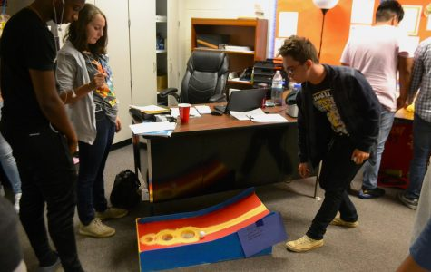 Frederick Hybart's Advanced Mathematical Decision Making class made carnival games based on experimental probability over the weekend. Today, they simulated a carnival in their classroom as a creative twist on a regular math lesson.
