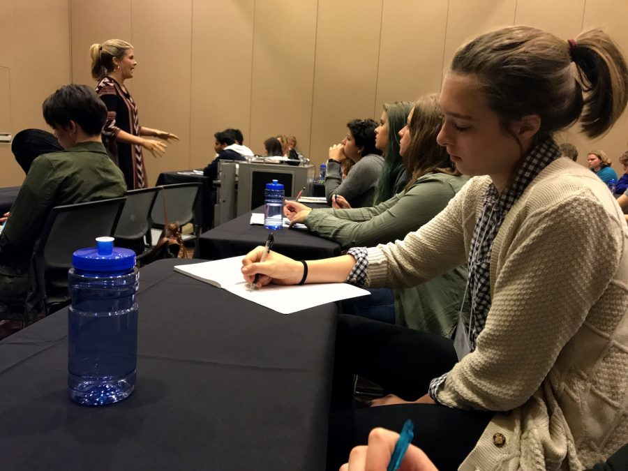 Students from across the state attend Georgia Scholastic Press Association's Fall Conference at the University of Georgia in Athens.