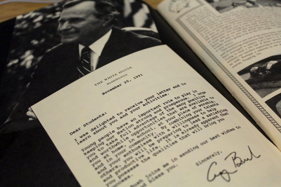 Sending NC success and best wishes, President Bush penned a letter to the class of 1992. The letter included how proud he was of their accomplishments and their role as great citizens.