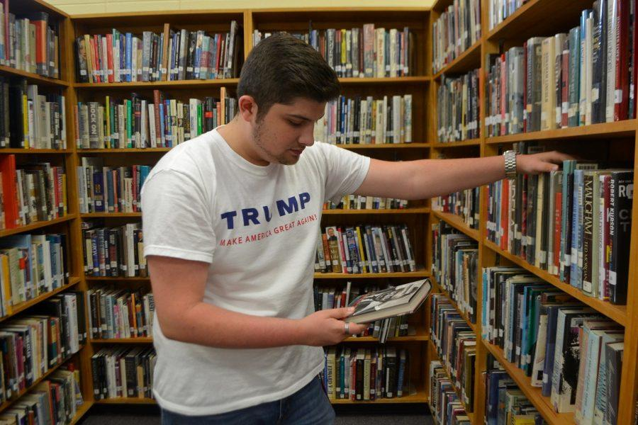 Students around the school voice their pride for their favorite candidates the day after the election. Senior Dylan Kellos, a campaigner for Donald Trump, said,