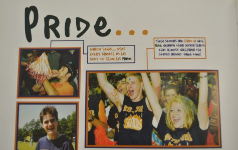 "NC alumni show their school spirit during school events and sports in the 2001 yearbook titled ""It's a matter of Pride"". The seniors featured here support the various sports the school has to offer. Show your school pride at the next basketball home game next Tuesday!"