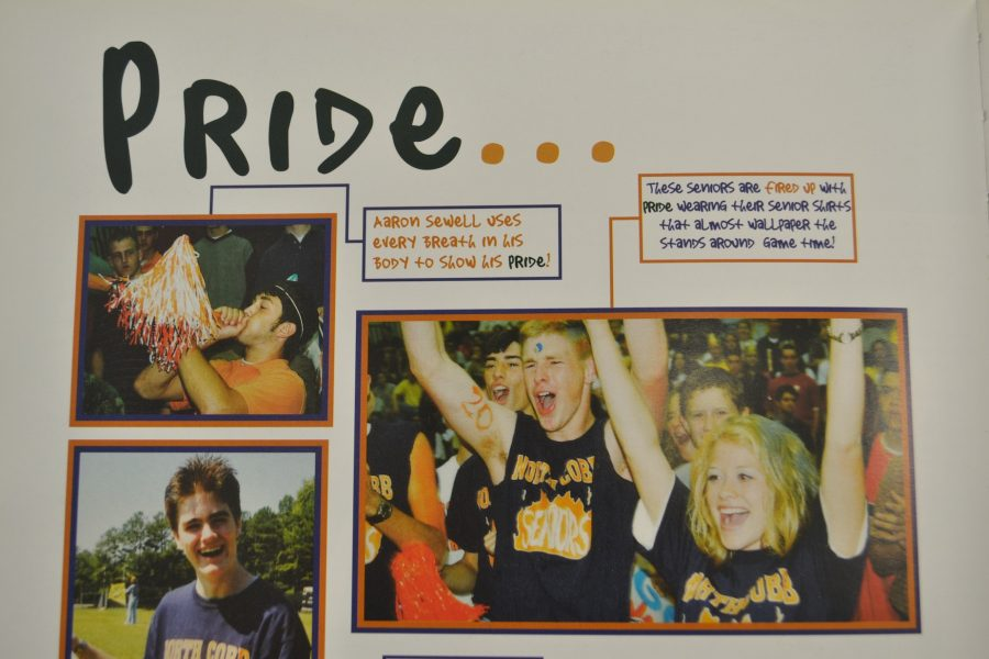 """NC alumni show their school spirit during school events and sports in the 2001 yearbook titled """"It's a matter of Pride"""". The seniors featured here support the various sports the school has to offer. Show your school pride at the next basketball home game next Tuesday!"""