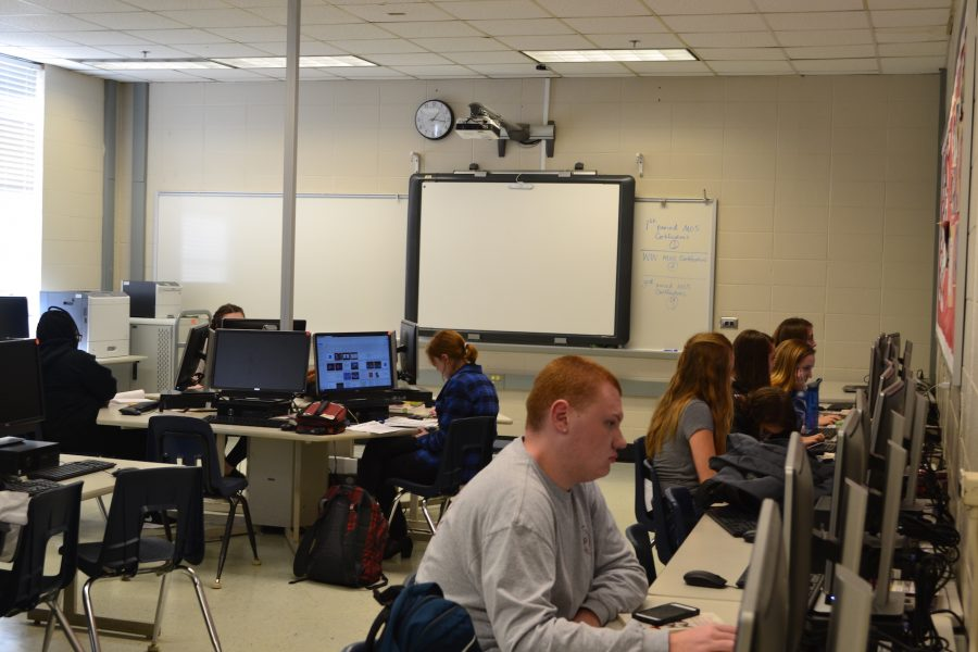 """NC's """"Teaching as a Profession"""" class puts together presentations as they learn about careers in education. Registration for the class and other electives will begin in early February."""
