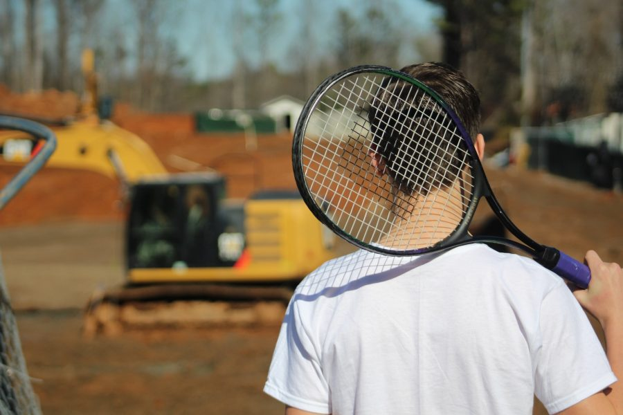 The construction has demolished the NC tennis courts, leaving the team with no training sites on campus and many inconveniences to come.