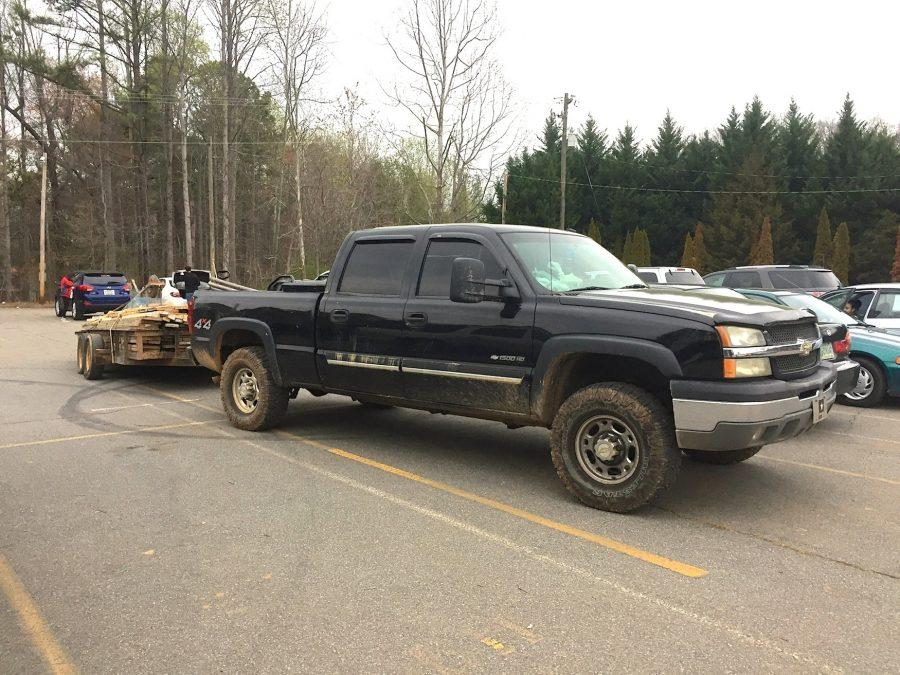 A construction worker's car and trailer take up 4 parking spaces in the morning, making it even harder for students to find a parking slot and get to class. While currently undergoing a large-scale construction project, NC's parking spaces greatly reduce, making every parking slot scarce and sacred.