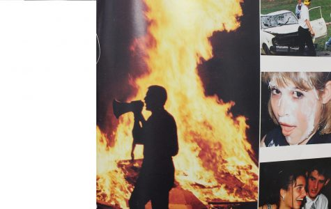 The 1996 edition yearbook features NC seniors engaging in senior pranks, and a bonfire ceremony celebrating the success of seniors and the end of the school year. The senior carnival nears on March 31, along with cap and gown deliveries to the seniors during first and second period.