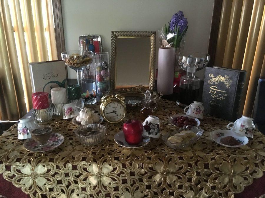 The+Haft-Sin+table+displays+symbolic+items+that+ensure+happiness+and+prosperity+in+the+new+year.