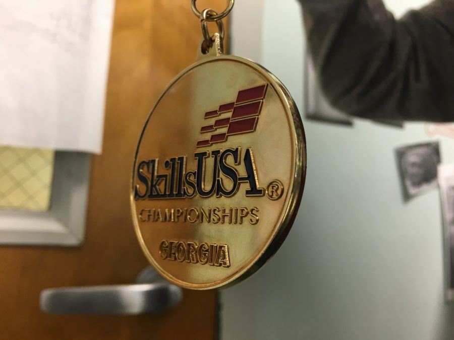 Many+SkillsUSA+members+took+home+gold+medals%2C+placing+first+place+in+their+competitions.+
