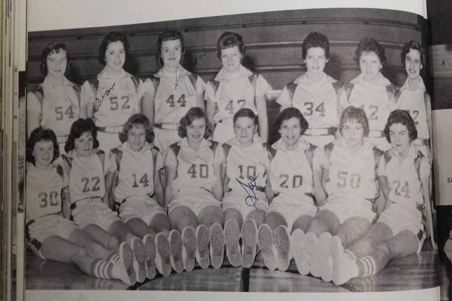 NC's women's basketball team poses for a group picture in the 1960 Panorama yearbook. With March comes March Madness so make sure to fill out brackets.