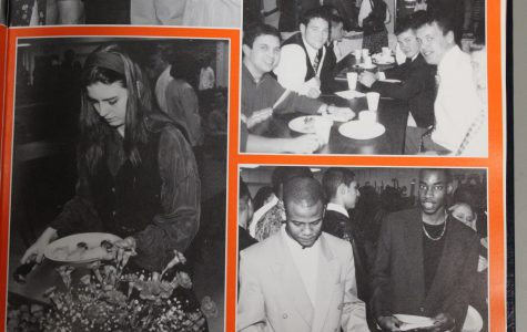 The 1998 NC panorama yearbook features the senior class participating in senior activities. The seniors enjoy food provided by the underclassman and socialize with their friends. This breakfast also announced senior superlatives, like the senior carnival will tomorrow. Make sure to attend the senior class meeting for important graduation information and to receive cap and gowns.