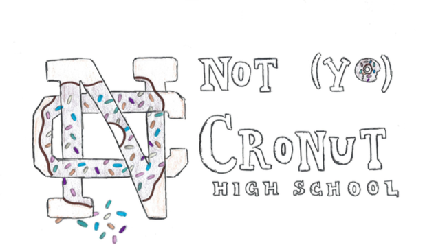 NC's name and symbol change to Not (yo) Cronut High School starting April 1.