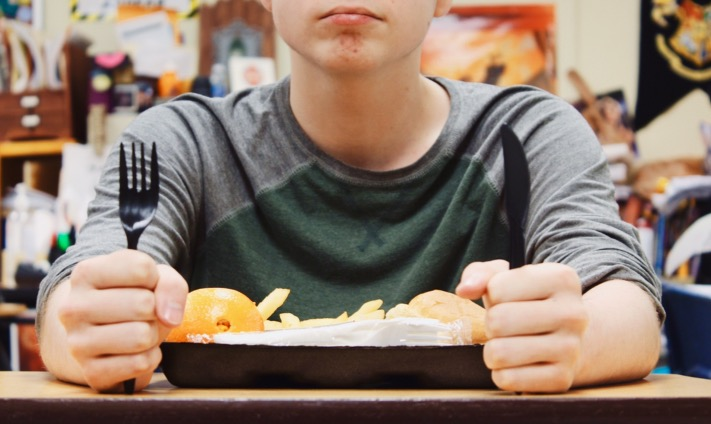 With the new lunch protocol, students must beware when eating to make sure their meal is not their friend.