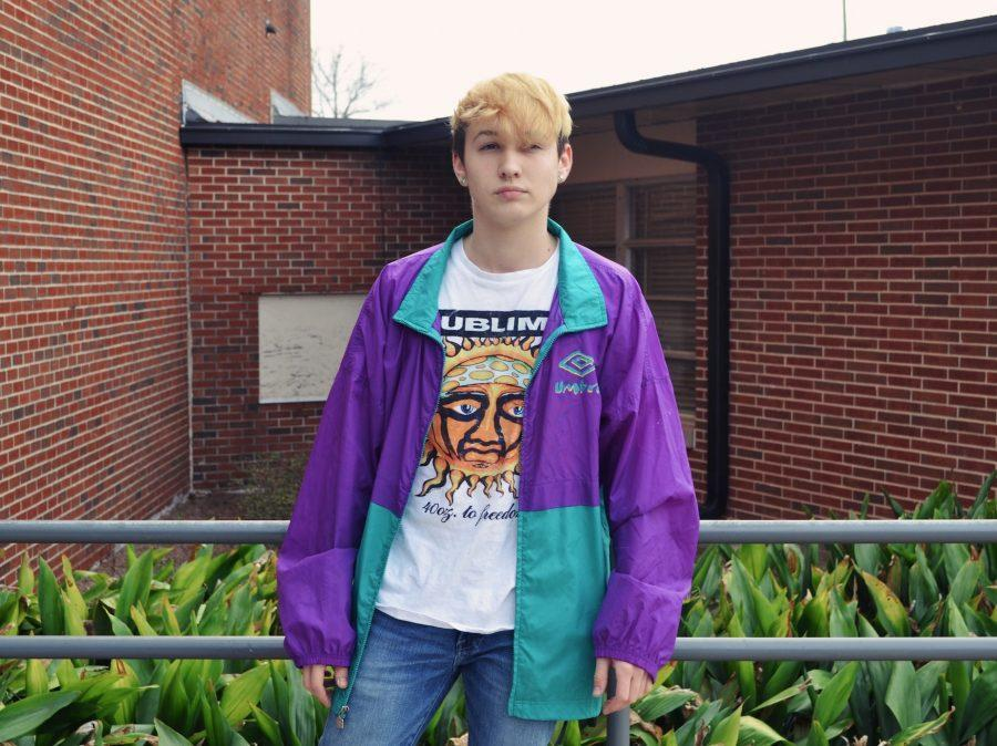 Junior+Luke+Pradella+sports+a+vintage+windbreaker+and+band+tee%2C+perfectly+exemplifying+the+style+of+a+teen+from+the+90s.+++
