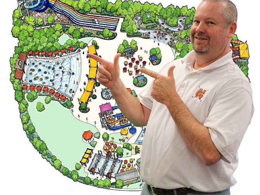 Principal+Horton+unveils+the+blueprints+for+NC%27s+new+water+park.+