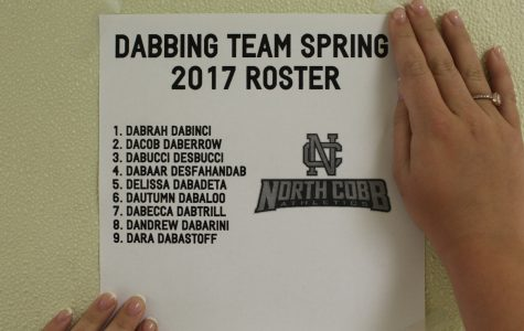 The first ever roster for NC's new dabbing team.