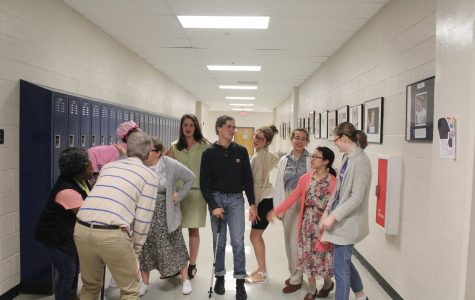 """During NC's Senior Week, 12th graders dressed up for Senior Citizens Day, wearing glasses, using walking canes, and offering mints. """"I think this is my natural state like I was born to be an elderly man,"""" senior Giovanni Merendino said. Make sure to participate in tomorrow's theme and dress up for 90's Day."""
