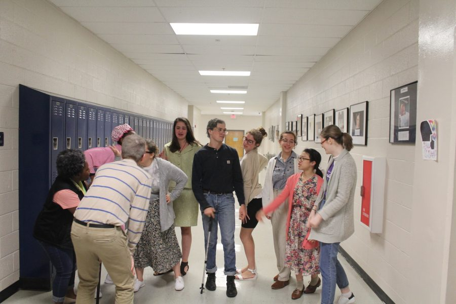 "During NC's Senior Week, 12th graders dressed up for Senior Citizens Day, wearing glasses, using walking canes, and offering mints. ""I think this is my natural state like I was born to be an elderly man,"" senior Giovanni Merendino said. Make sure to participate in tomorrow's theme and dress up for 90's Day."