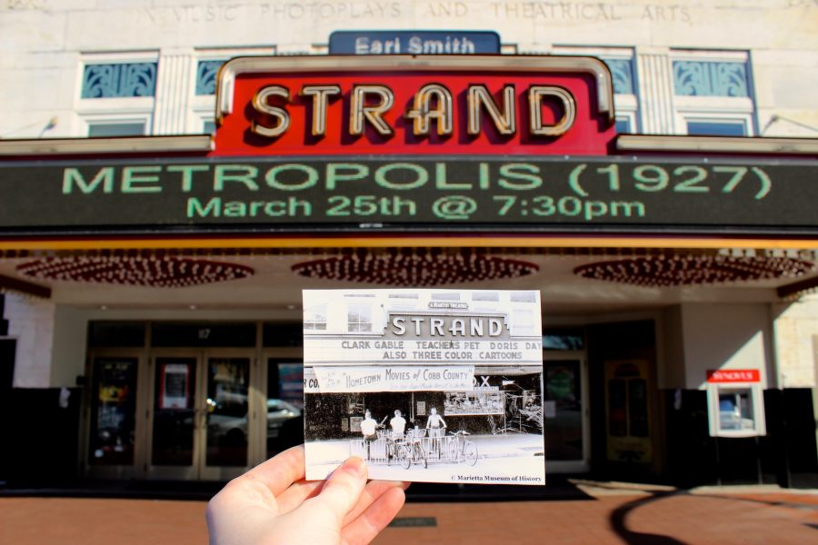 The Chant compares The Strand theater in the 1950s with the building today.