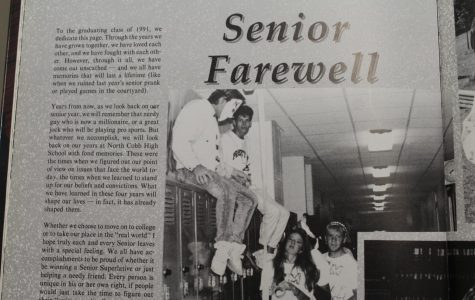 The 33rd volume of the NC Panorama yearbook features the class of '91 seniors in a collage of pictures and a short farewell letter. The letter illustrates the memories made together and reminds them that no matter where they go they will always be a warrior.