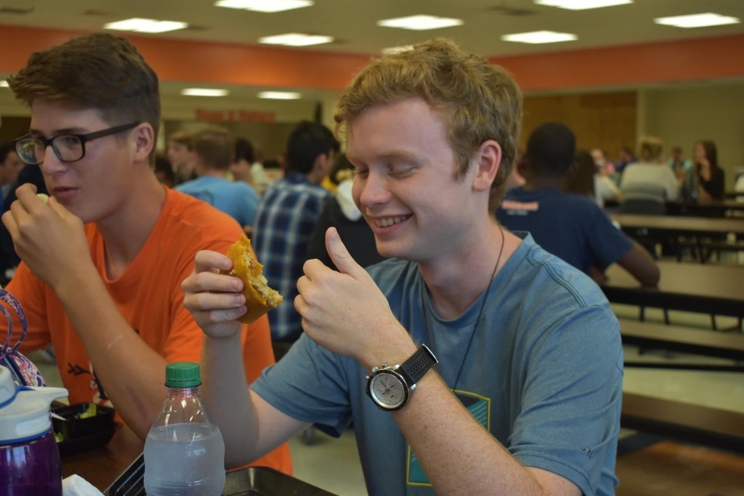 After taking the PSAT, students could look forward to the lunchroom's newest edition: The Epic Quesadilla. With tasty sautéed chicken, cheddar cheese. onions, and bell peppers, this new entree provides extra flavor and flair to the basic chicken nuggets and pizza in the lunch line. As of B lunch, around 50 quesadillas were sold and students appreciate the new food item.