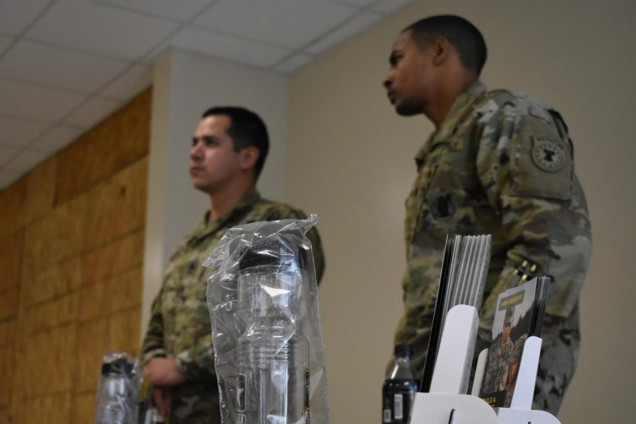 "The U.S army sent representatives to NC during to inform students about their options. ""We just give them basic information of what the Army offers,"" army representative Colon said. Interested students can also set up appointments for further information."