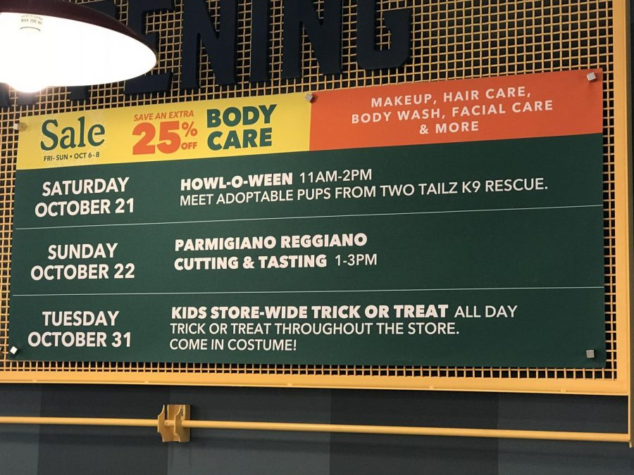 Throughout the following weeks in October and November, Whole Foods Market will host a range of events to commemorate the opening and attract new customers. Events range from live cafe music, to $3 pint nights, to Halloween Trick or Treating.
